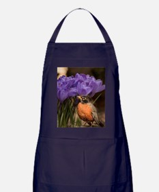 Robin and Crocus Apron (dark)