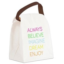 Bright ABIDE Canvas Lunch Bag