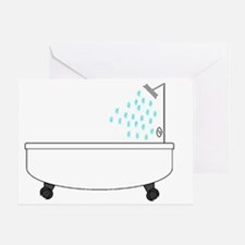 Bathtub Greeting Card