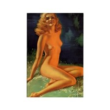 Erotic Nudity Illustrations Rectangle Magnet