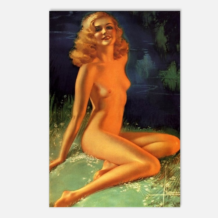 Erotic Nudity Illustratio Postcards (Package of 8)