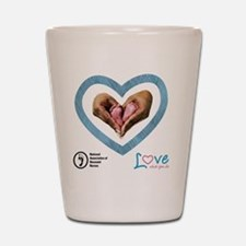 Love What You Do Shot Glass