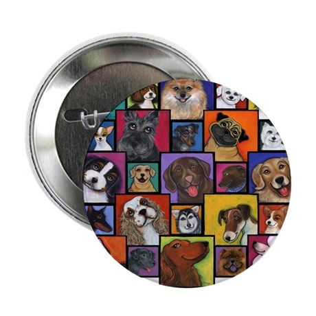 "I Love Dogs! 2.25"" Button (100 pack)"