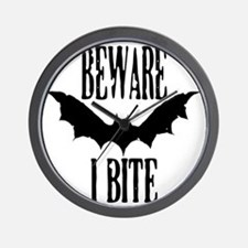 Beware I Bite Wall Clock