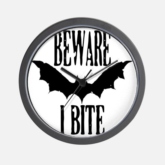 Beware I Bite Wall Clock