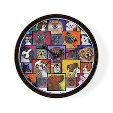 I Love Dogs! Wall Clock
