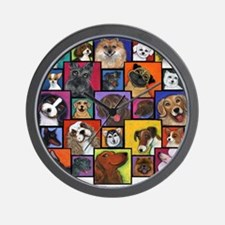 I Love Dogs! Wall Clock