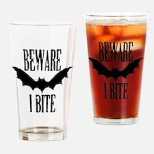 Beware I Bite Drinking Glass