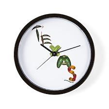 Texas Chilis Wall Clock