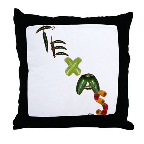 Texas Chilis Throw Pillow