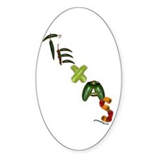 Texas Chilis Oval Decal