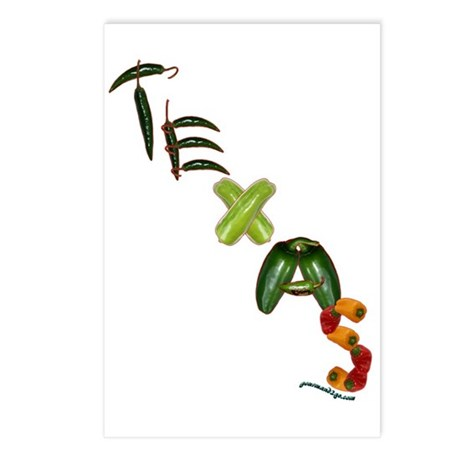 Texas Chilis Postcards (Package of 8)