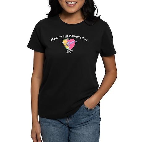 Mommy's 1st Mother's Day (Heart) Women's Dark T-Sh
