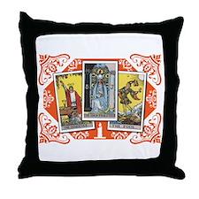 Fortune Teller (white) Throw Pillow