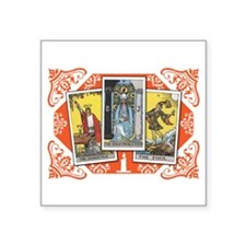 "Fortune Teller (white) Square Sticker 3"" x 3"""