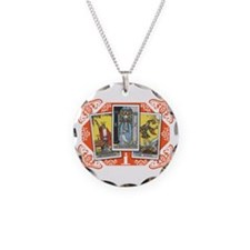 Fortune Teller (white) Necklace Circle Charm