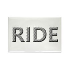 Diamond Plated RIDE Rectangle Magnet