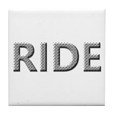 Diamond Plated RIDE Tile Coaster