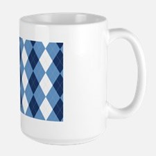 UNC Basketball Argyle Carolina Blue Large Mug