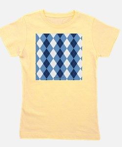 UNC Basketball Argyle Carolina Blue Girl's Tee