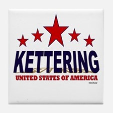 Kettering U.S.A. Tile Coaster