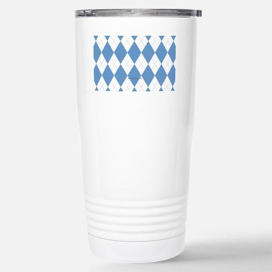 UNC Carolina Blue Argle Stainless Steel Travel Mug