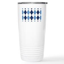 UNC Argyle Carolina Blu Travel Mug