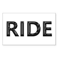 ride Rectangle Decal