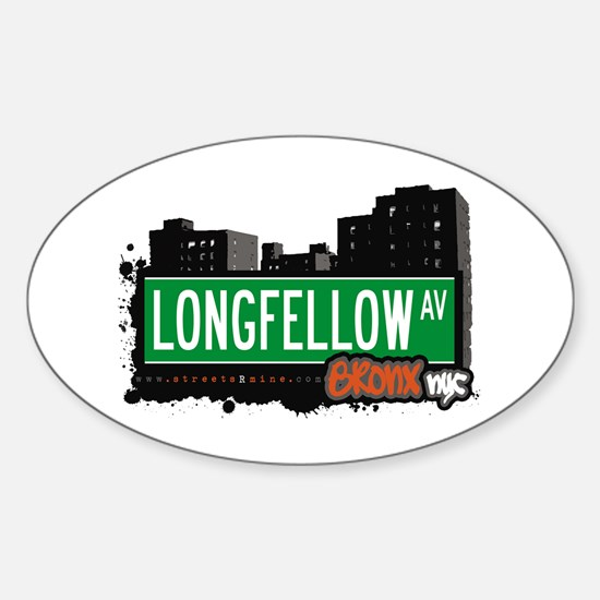 Longfellow Av, Bronx, NYC Oval Decal
