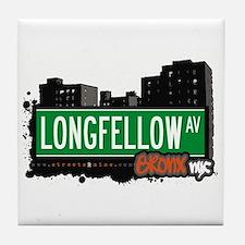 Longfellow Av, Bronx, NYC  Tile Coaster