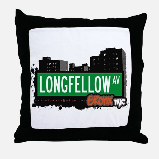 Longfellow Av, Bronx, NYC  Throw Pillow