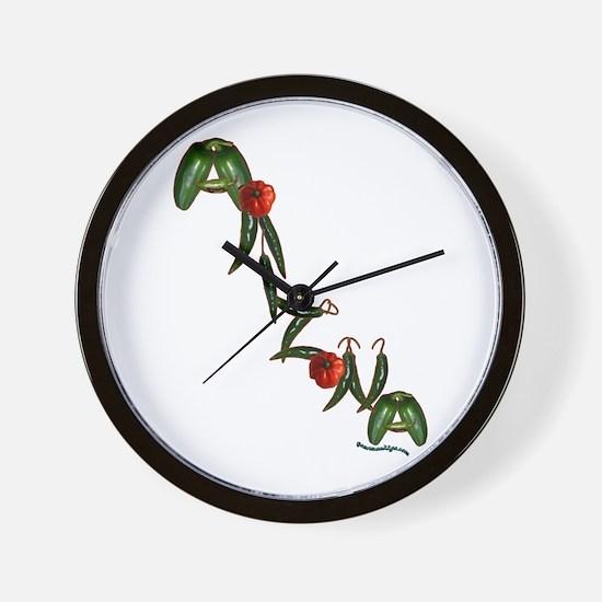 Arizona Chilis Wall Clock