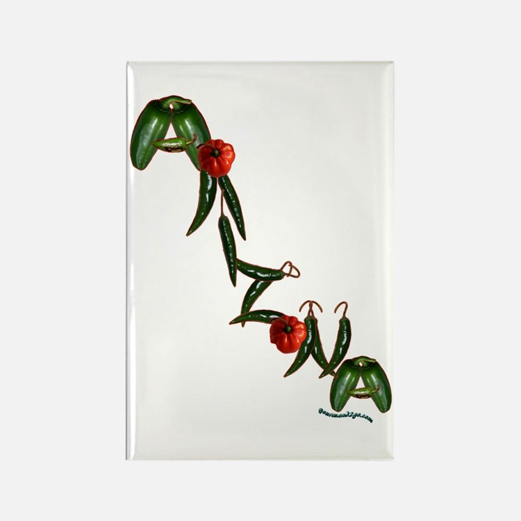 Arizona Chilis Rectangle Magnet