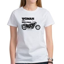 woman with a Mean strk T-Shirt