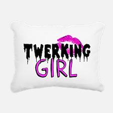 Twerking Girl Rectangular Canvas Pillow