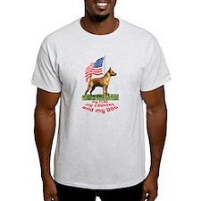 minpin with flag T-Shirt