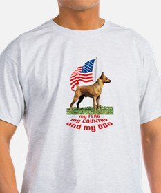minpin with flag T-Shirt