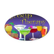 Group Therapy Oval Car Magnet