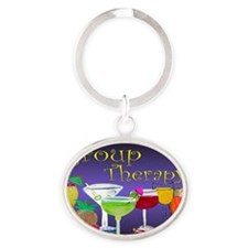 Group Therapy Oval Keychain