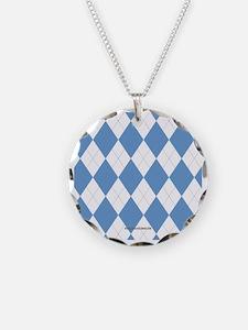 UNC Carolina Blue Argle Bask Necklace