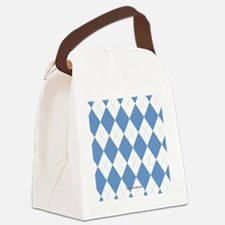 UNC Carolina Blue Argle Basketbal Canvas Lunch Bag