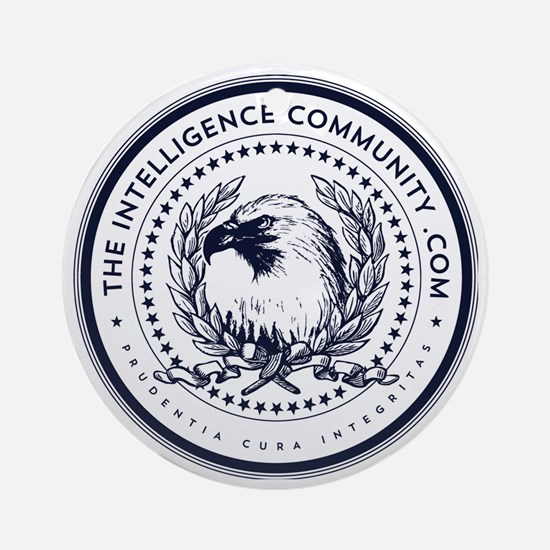 The Intelligence Community Round Ornament