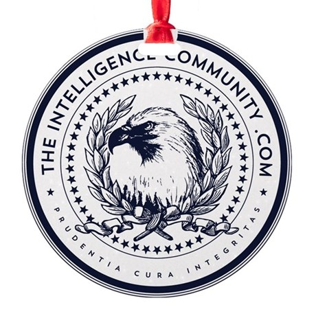 The Intelligence Community Round Ornament