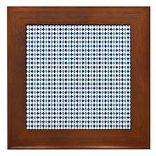 UNC Argyle Carolina Blue Tarheel Framed Tile