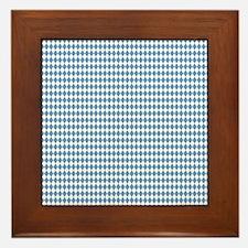 UNC Carolina Blue Argle Basketball Framed Tile