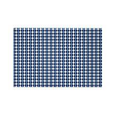 UNC Carolina Blue Basketball Argy Rectangle Magnet