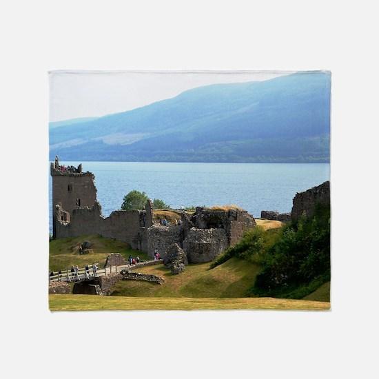 Urquhart Castle Throw Blanket