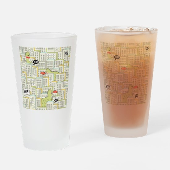 Monsters Attack City Drinking Glass