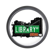 Library Av, Bronx, NYC Wall Clock