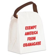 Exempt America From Obamacare Canvas Lunch Bag